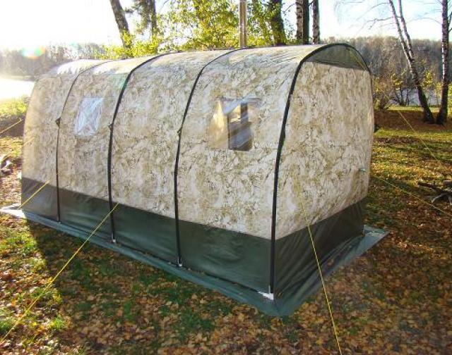 Badstue og oppvarmet telt