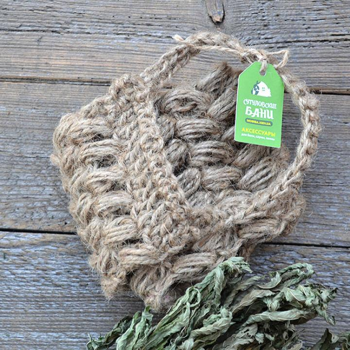 MobiNatura Ryggskrubb svamp i økologisk lin kjøp i Norge i butikk